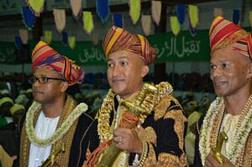 Men in traditional wedding attire
